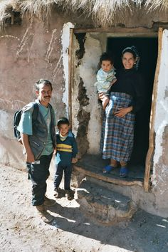 High Atlas Mountains Imlil village Berber guide and his family