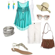Summertime Casual, created by #carejeansams on #polyvore. #fashion #style CALYPSO ST. BARTH #Mango