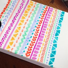 DIY tribal phone case with Sharpie cover with clear nail polish for a lasting look