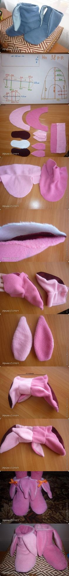 DIY Bunny Shoes DIY Projects | UsefulDIY.com