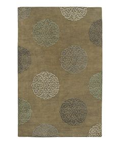 Take a look at this Olive Green Wool-Blend Mercer SoHo Rug by Amer Rugs on #zulily today!