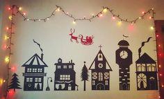 papercut Christmas village