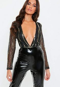 Missguided has the fiercest collection of affordable, coveted tops in the fashion universe. From crop tops & camis to shirts & bodysuits - just take a look! Embellished Bodysuit, Leather Pants Outfit, Vinyl Dress, Leather Lingerie, Cami Crop Top, Womens Bodysuit, Hot Outfits, Plus Size Tops, Casual Looks