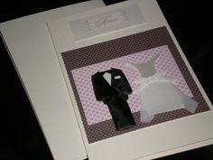 Groom Bride Wedding Card of Pink and Brown by giftcardsbynlo, $4.95