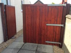 Split driveway gate by Gates and Fences UK. Ideal option if you need a pedestrian gate within a driveway opening.