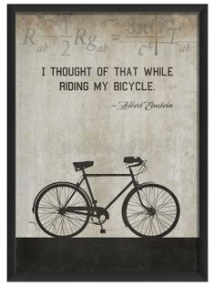 Bicycle by Einstein (White) by Artwork Enclosed at Gilt