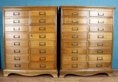 Pair of matching oak filing cabinets http://www.walcotandco.co.uk/cabinets-and-storage/pair-of-matching-oak-filing-cabinets
