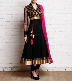 Indian Pakistani Anarkali Suit Bollywood Eid 2017 Designer Salwar Kameez AK 1412 Elegant Indian salware suits Click visit link for more details Black Anarkali, Anarkali Dress, Pakistani Dresses, Indian Dresses, Anarkali Suits, Long Anarkali, Punjabi Suits, Indian Attire, Indian Wear