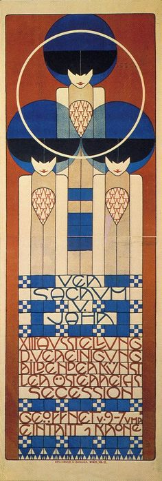 Koloman Moser -Vienna Secession, Thirteenth Exhibition poster (geometry- squares)