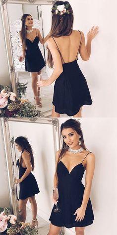 Spaghetti Straps Homecoming Dress,Elegant Homecoming Dress,A-Line Homecoming Dress,Short Prom dress,Evening Prom Dress