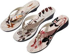Indistar Women's Nylon Flip Flop (Pack Of 3 Pair) * Click on the image for additional details.