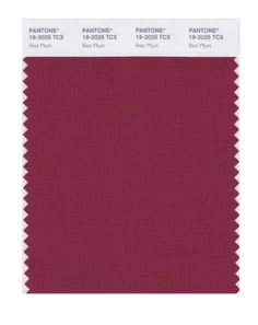 PANTONE SMART 19-2025X Color Swatch Card, Red Plum Pantone http://www.amazon.com/dp/B004O77TTA/ref=cm_sw_r_pi_dp_7rSbwb1YK1M1A