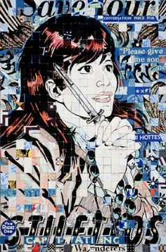 """""""Stilettos"""" - 2010. By Faile. Reminds me of an old friend in look and in manner."""