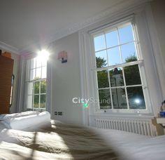 Secondary glazing fitted to victorian sash windows (Chepstow, London). City Sound Ltd www.citysoundglazing.co.uk