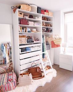A closet full of clothes! Apartment Therapy, Shoe Rack, Room, Closet, Shopping, Bliss, Goals, App, Design