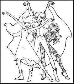 coloring pages totally spies - photo#34
