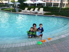 Family @ the OCR pool. We love our guests! #OceanClub #TurksandCaicos #Family #Vacation