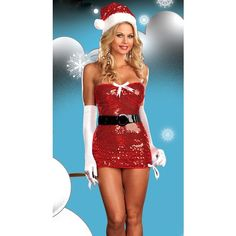 Sexy Christmas Costume Bow And Tie Sexy Santa Costume ($25) ❤ liked on Polyvore featuring costumes, red, santa suit, santa claus costume, sexy womens halloween costumes, womens halloween costumes and santa claus suit