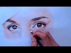 Cómo Dibujar Ojos. Emma Watson. Lápices de colores - YouTube                                                                                                                                                      Más