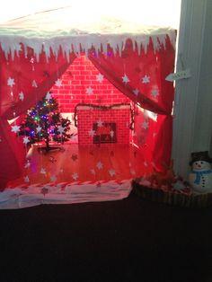 Santas grotto gazebo and decorations