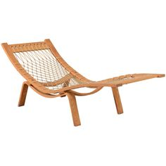 Hans J. Wegner Hammock Chaise Longue for GETAMA ❤ liked on Polyvore featuring home, furniture, chairs, accent chairs, wegner chair, wegner furniture, hans wegner furniture, hans wegner chair and danish furniture