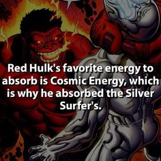 """I've got a real taste for Cosmic Energy""  #hulk #redhulk by marvelousfacts"