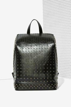 ae4e50e9b5 Black Out Studded Backpack | Shop Accessories at Nasty Gal! Zaino Con  Borchie, Borsa