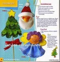 Blog de Santa clauss: Manualidades navideñas en microporoso                                                                                                                                                      Más
