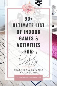 Exciting Indoor Games & Activities For Kids- That They'll Actually Want To Do - Lattes, Lilacs, & Lullabies Sensory Activities, Craft Activities For Kids, Activity Games, Crafts For Kids, Indoor Activities, Summer Activities, Family Activities, List Of Indoor Games, Christian Parenting