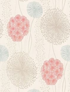 Gardenia - Harlequin Wallpapers - Large scale seed heads in a subtle design , in soft elegant colour combinations. Shown here in the grey, blue grey and raspberry red on off-white. Available in other colours. Please request sample for true colour match. Laundry Room Wallpaper, Office Wallpaper, Wall Wallpaper, Iphone Wallpaper, Feature Wallpaper, Zentangle, Harlequin Wallpaper, Attic Bedroom Designs, Cute Patterns Wallpaper