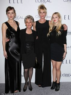 Three generations: Melanie beamed with pride as she posed alongside her two daughters and actress mother at the star-studded event at the Four Seasons Hotel