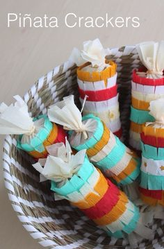 Fiesta Time- Cinco De Mayo Favors — Make+Haus Diy Party Poppers, Easter Egg Candy, Easter Eggs, Fiestas Party, Mexican Crafts, Thinking Day, Mexican Party, Party Planning, Party Favors