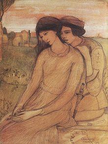 Lajos Gulacsy (Hungarian: - Francesca da Rimini and Paolo Malatesta - 1903 Famous Artists, Great Artists, Romeo Y Julieta, Art Of Love, Art Database, Couple Art, Western Art, Hanging Art, Art Reproductions