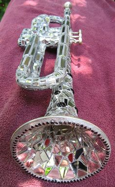 """All That Jazz"" Mirrored/Metallic Mosaic Trumpet"