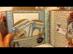 Kaiser Craft Baby Boy Mini Album for Angelica's Little Scrap Shop on Etsy Mini Scrapbook Albums, Mini Albums, Scrapbooking, Baby Album, Paper Crafts, Diy Crafts, Junk Journal, Journal Ideas, Mini Photo