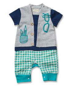Loving this Turquoise Pencil Romper - Infant on #zulily! #zulilyfinds