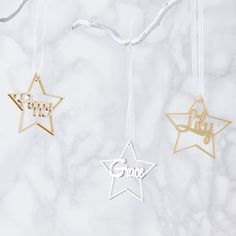 Personalised Metallic Star Christmas Decoration