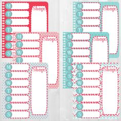 Available at CraftedByCorley on Etsy: Meal Planning Coil Inserts - June Vertical Colors - Erin Condren Vertical and Horizontal Planner