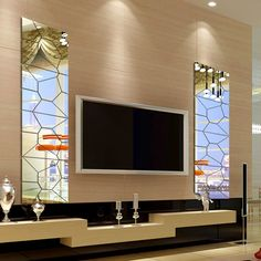 7pcs Moire Mirror Style Wall Sticker DIY Removable Decal Art Mural Home Decor   eBay