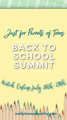 Our Back-to-School summit! For parents of teens and empty nesters... 24 fabulous speakers! Topics include: college admissions, scholarship search, downsizing, cooking for 2 again, high school issues, college prep, parenting adult children, and more! Step Parenting, Parenting Teens, Parenting Advice, College Search, Raising Teenagers, Scholarships For College, New Teachers, High School Students, Mom Blogs