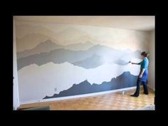 "The ""Mountain Mural"" Bedroom Makeover 