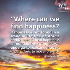let's find REAL happiness