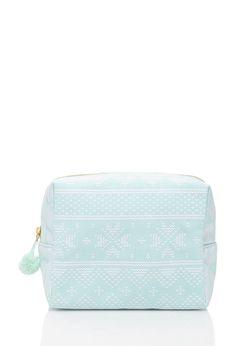 Fair Isle Print Makeup Bag | FOREVER21 - 1000118391