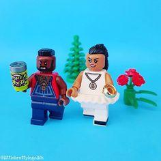 Mr and Mrs T.👫🏾💍 #lego #legominifigures #legostagram #instalego #legophotography #toystagram #toys #toyart #vitruvianbrix #bricknetwork #brickcentral #afol #minifig #minifigures #legogram #lego_hub #legos #toygroup_alliance #toyartistry_lego #legolife #legophoto #brickculture #brickpichub #legoart #legomania #ateam #mrt #couplegoals #mohawk #80s #relationshipgoals #valentinesday
