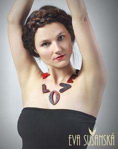 Love necklace made by Eva Sušanská