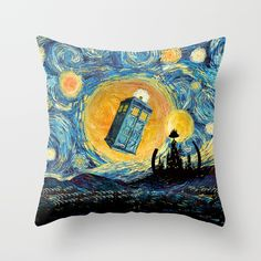 Gallifrey starry night Throw Pillow case @pointsalestore #society6 #pillow #throwpillow #Pillow #PillowCase #PillowCover #CostumPillow #Cushion #CushionCase #PersonalizedPillow #Painting #Oil #Acrylic #Popart #Streetart #Abstract #Digital #Badwolf #Starrynight #Starrynight #Vangogh #Tardis #Doctorwho #Fullmoon #Whovian #Davidtennant #Jodiewhittaker #Timelord #Scifi #Timetravel