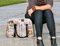 newspaper print bag   goo.gl/qS0Q4