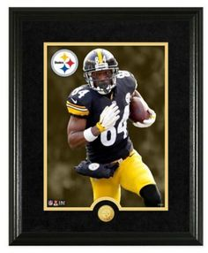 NFL Antonio Brown Canvas Art Gold Coin Photo Mint