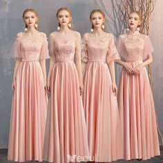 Affordable Pearl Pink Satin Bridesmaid Dresses 2019 A-Line / Princess Sash Appliques Lace Floor-Length / Long Backless Wedding Party Dresses Satin Bridesmaid Dresses, Lace Bridesmaid Dresses, Satin Dresses, Wedding Party Dresses, Gowns, Wedding Parties, Cute Dresses, Beautiful Dresses, Wedding Dress Gallery