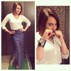 Sonakshi sinha in ShopViolla's cuff promoting tevar styled by Sakshi Mehra.